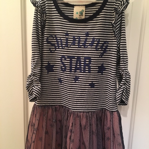 Lily Bleu Other - Blue stripes sparkle stars dress